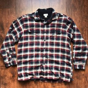 LL Bean Men's Fleece Lined Flannel Size Large